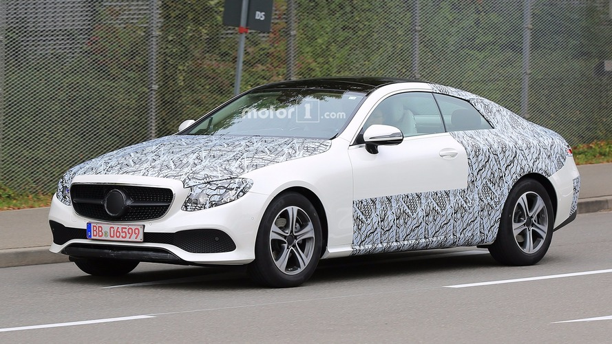 2018 Mercedes E-Class Coupe loses some of the camo
