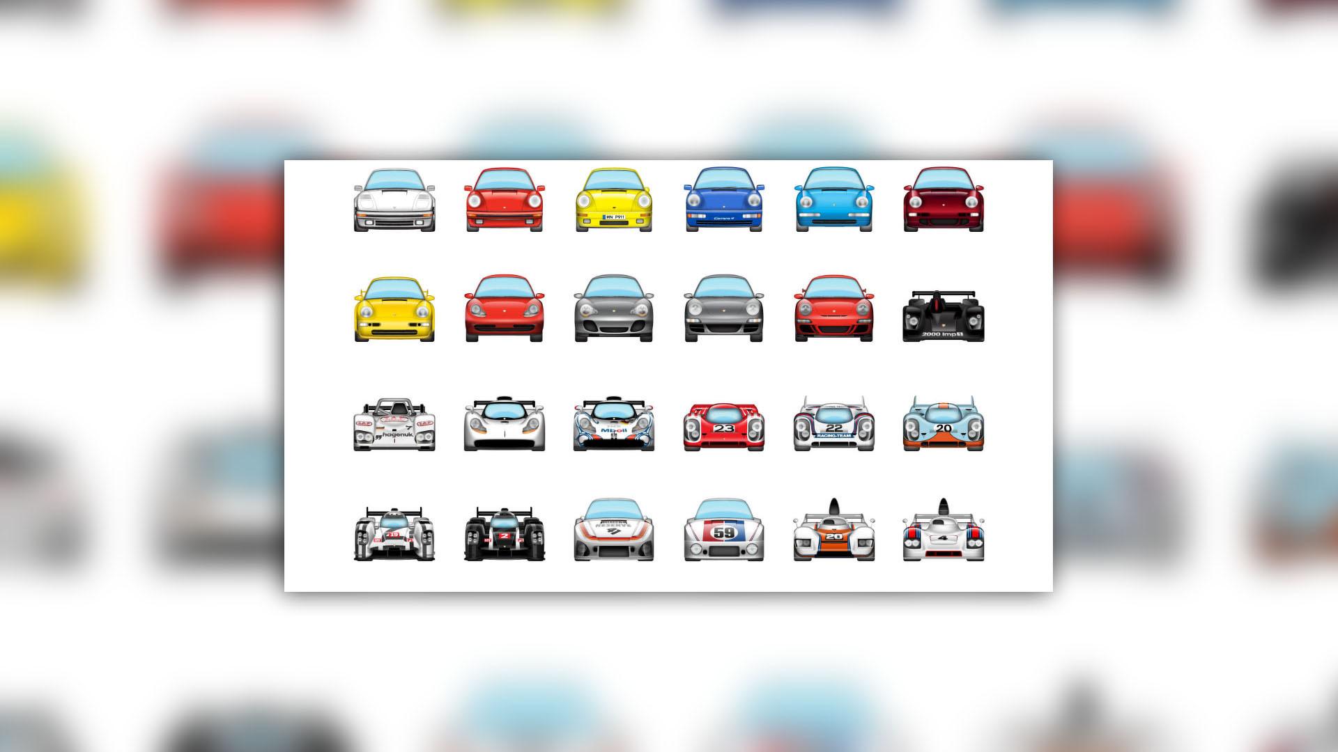 Porsche emoji pack makes iPhone texting way more fun