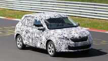 2015 Skoda Fabia spied for the first time