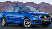 Audi Q6 rendered as BMW X6 and Mercedes GLE Coupe rival