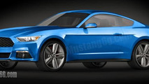 2015 Ford Mustang rendering 15.10.2013