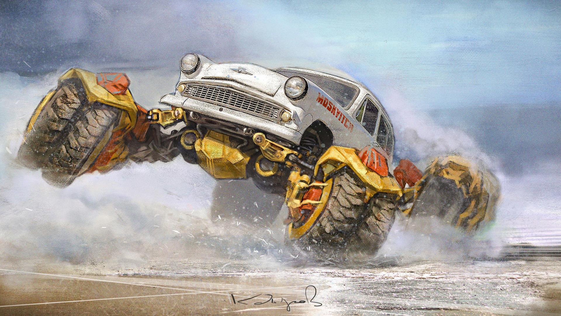 Monster Truck Dessin Animé