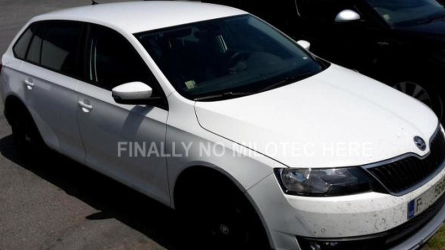 Skoda Rapid Scout photographed undisguised