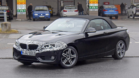 BMW 2 Series Convertible spied showing of new nose