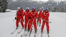 Fisichella, Massa, Alonso, Madonna di Campiglio, 12.01.2010