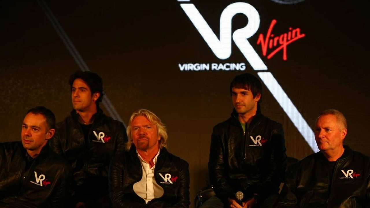 Virgin Racing team announcement, Nick Wirth, Technical Director with Lucas Digrassi, Sir Richard Branson, Timo Glock, John Booth, London, England, 15.12.2009