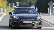 Porsche Cayman GT4 prototype flaunts its  rear wing in latest spy shots