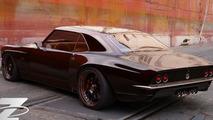 Bo Zolland creating a customized 1968 Chevrolet Camaro for SEMA