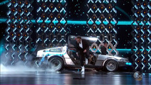 Back to the Future DeLorean at the 2017 Oscars