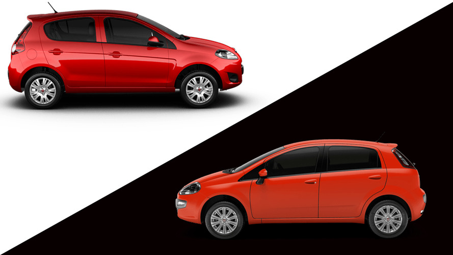 Briga em casa - Fiat Punto Attractive 1.4 x Palio Essence 1.6 16V