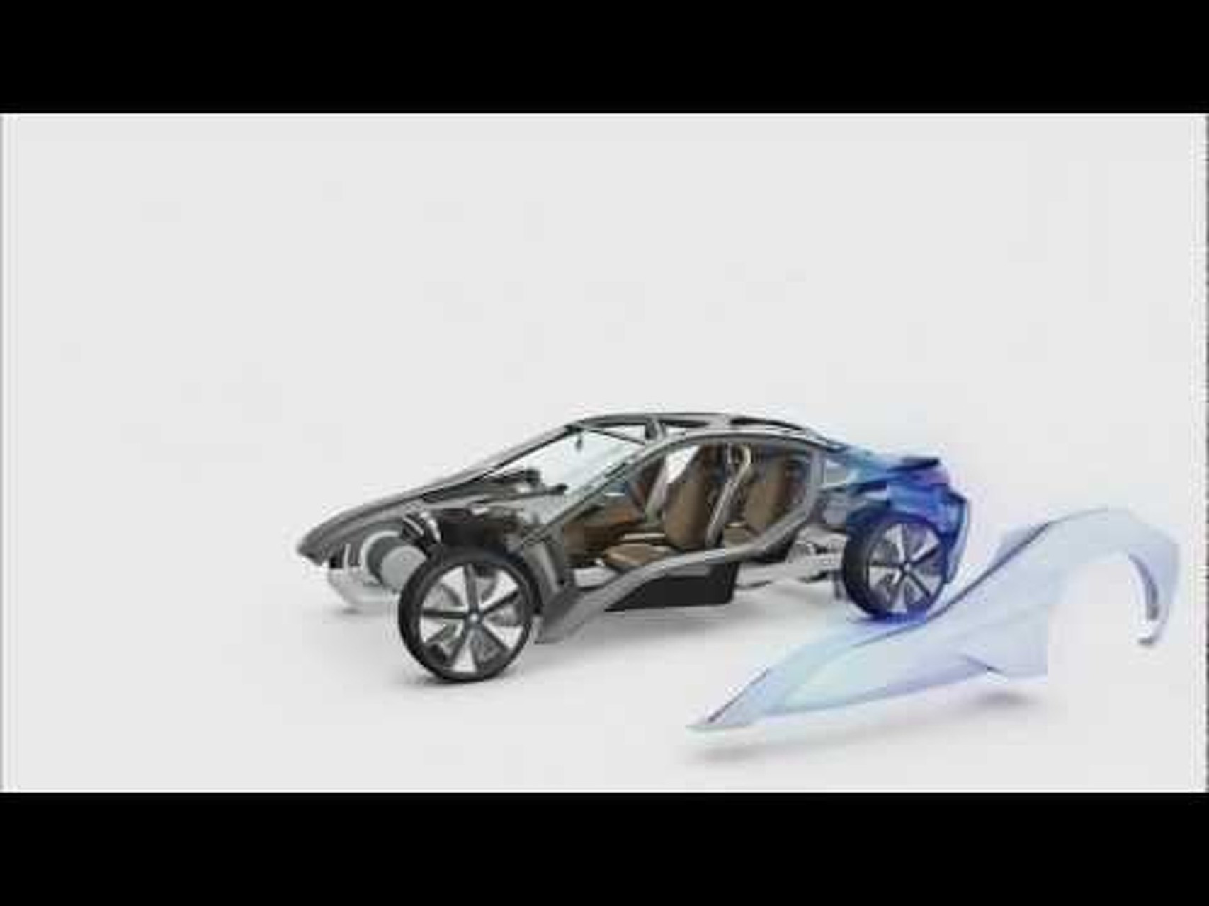 BMW i8 Concept Body Surface Animination