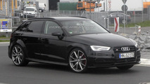 Audi RS3 mule caught in the open