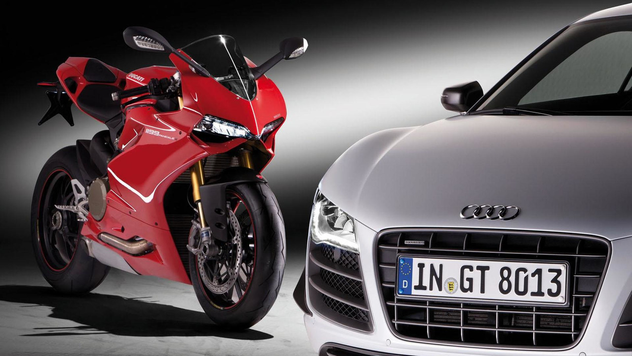 Audi R8 and Ducati Motorcycle 18.4.2012