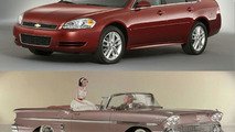 top: 2008 Chevrolet Impala LT; bottom: 1958 Chevrolet Impala