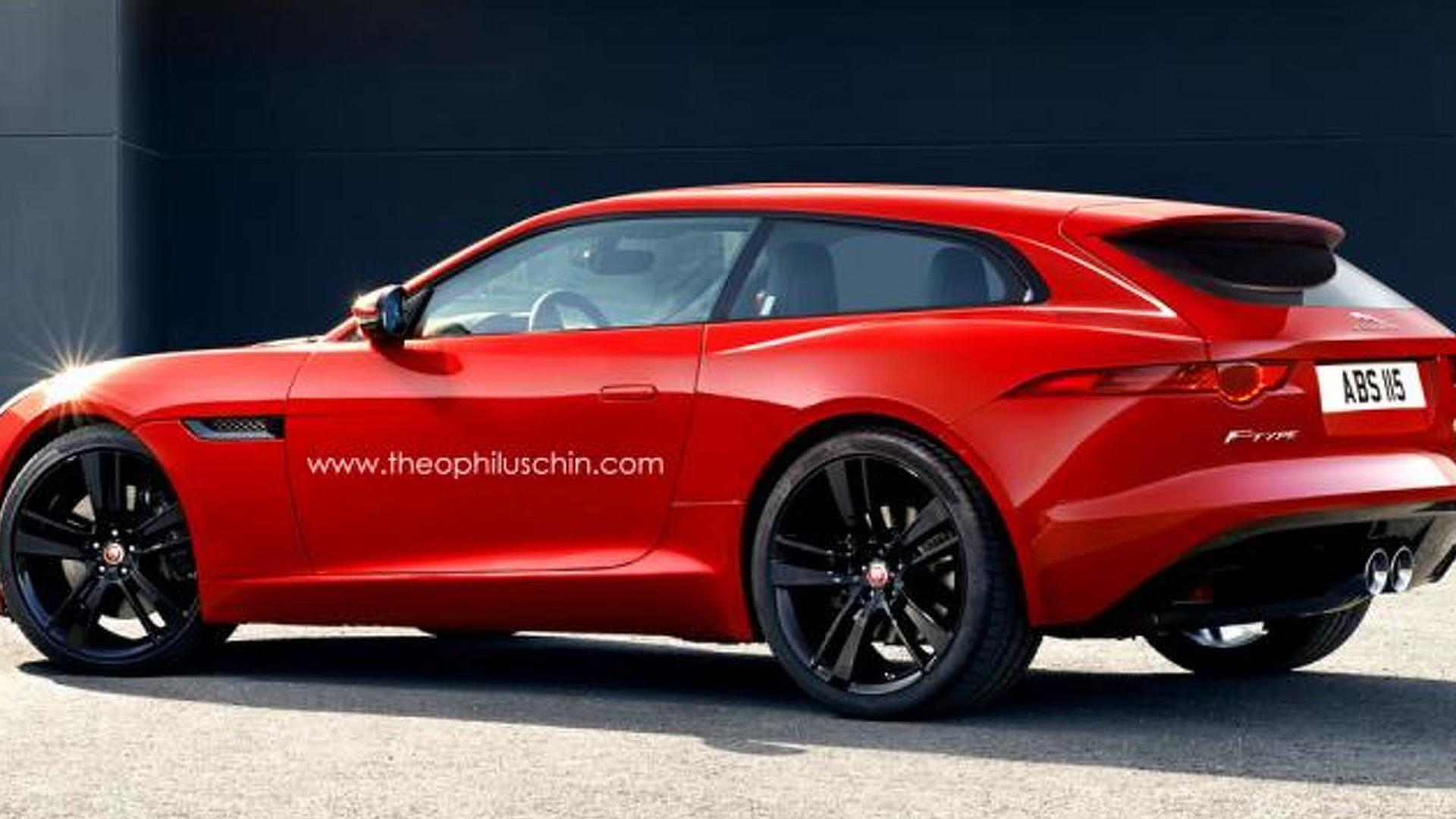 Jaguar F-Type rendered as a shooting brake