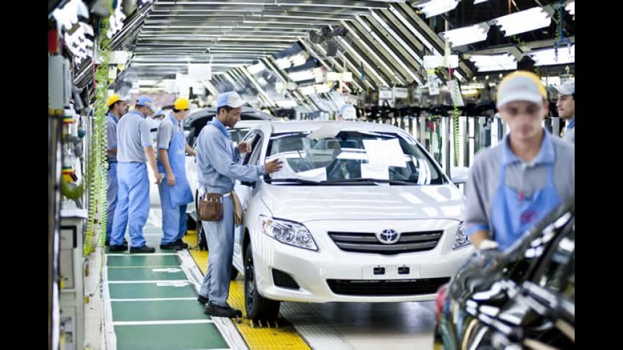 Toyota anuncia nova paralisação de fábricas no Brasil e Argentina