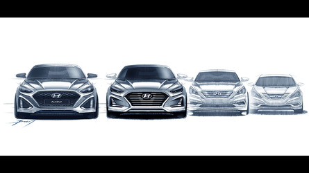Makyajlı Hyundai Sonata'nın tasarım çizimleri ile önizlemesi yapıldı