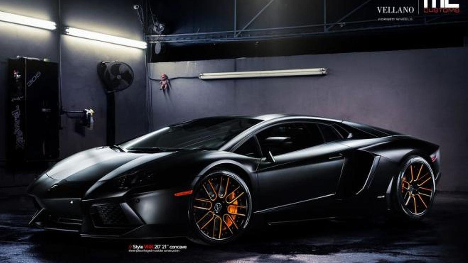 Photo Appreciation: Lamborghini Aventador riding on Vellano wheels