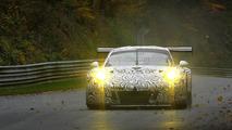 2015 Porsche 911 RSR spied on a wet Nurburgring