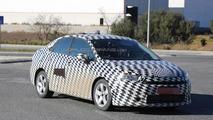 Citroen compact sedan spy photo
