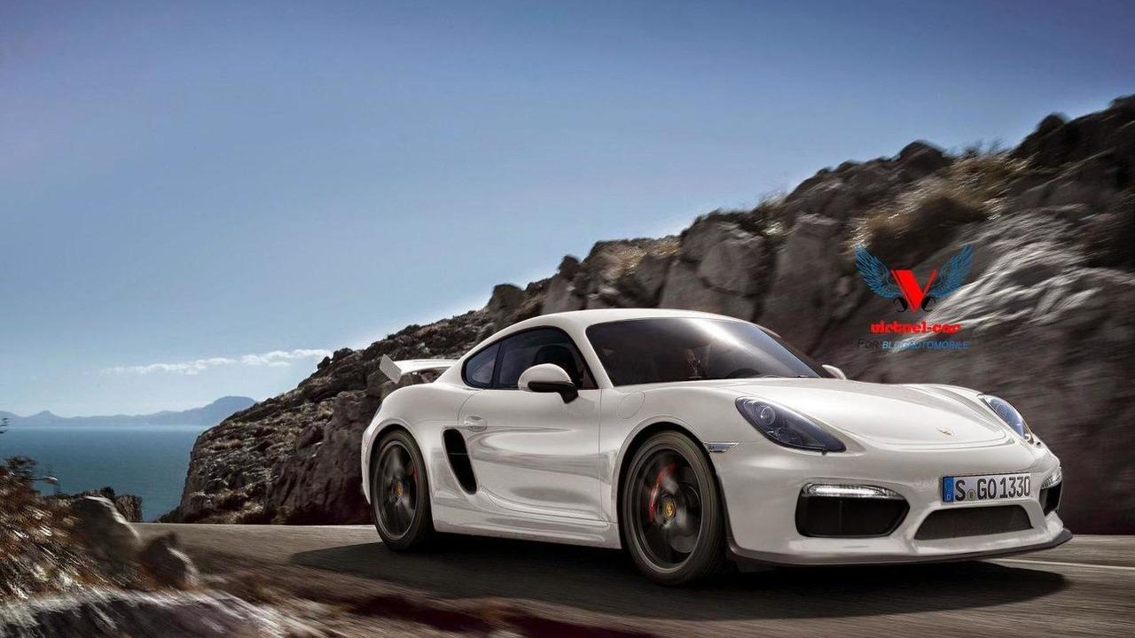 Porsche Cayman GT4 render