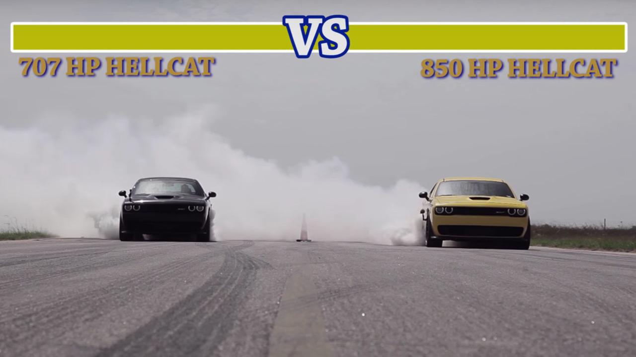 Hennessey Challenger Drag race