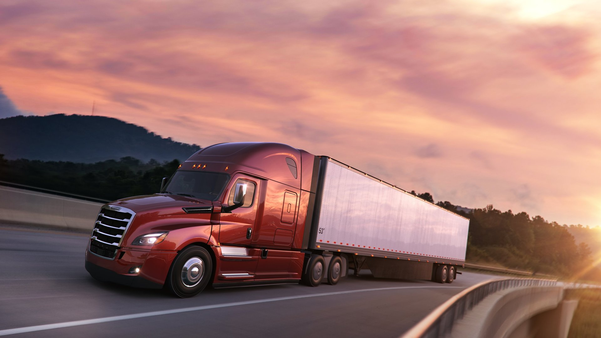 new freightliner cascadia is the most advanced semi truck ever. Black Bedroom Furniture Sets. Home Design Ideas