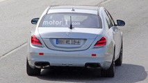Mercedes S63, S Class facelift spy shots