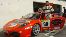Olympic Champion Drives Ferrari F430 Challenge Test Session