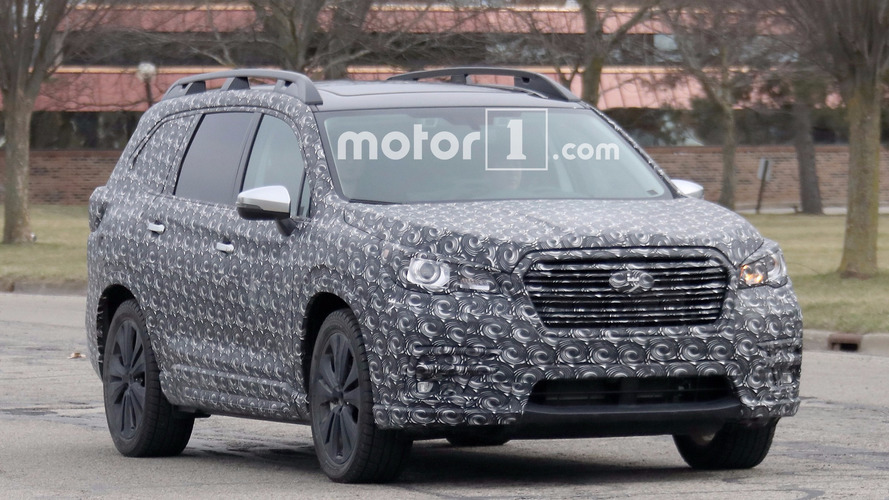 Caught: Subaru's New Three-Row Crossover Totally Exposed In Spy Shots