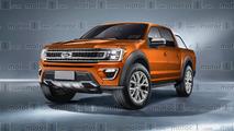 Projeção - Nova Ford Ranger 2019 pode ganhar traços da F-150