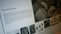 Leaked VW Scirocco Brochure is Fake
