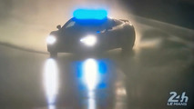 Watch the Audi R8 Safety Car drift through the esses at Le Mans