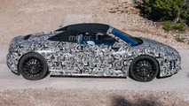 Audi R8 Spyder spotted testing in Spain with the fabric roof up