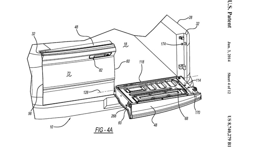 Ram Two-Way Split Tailgate Patent Drawings