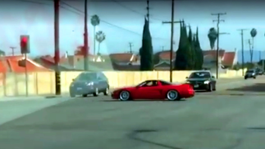 An Acura NSX getting T-boned is almost too painful to watch