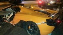 McLaren 650S Spider crash in Singapore