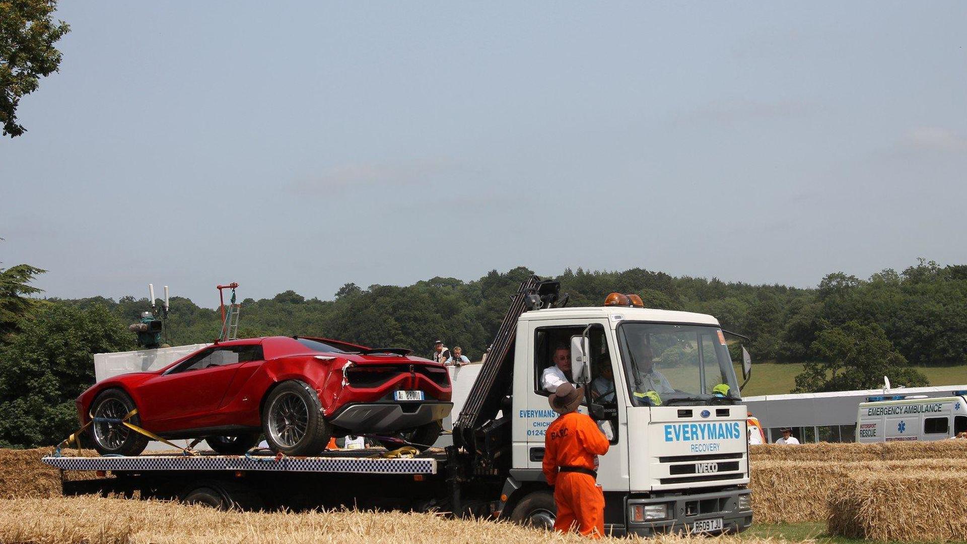 Italdesign Giugiaro Parcour Concept crashes at Goodwood [VIDEO ADDED]
