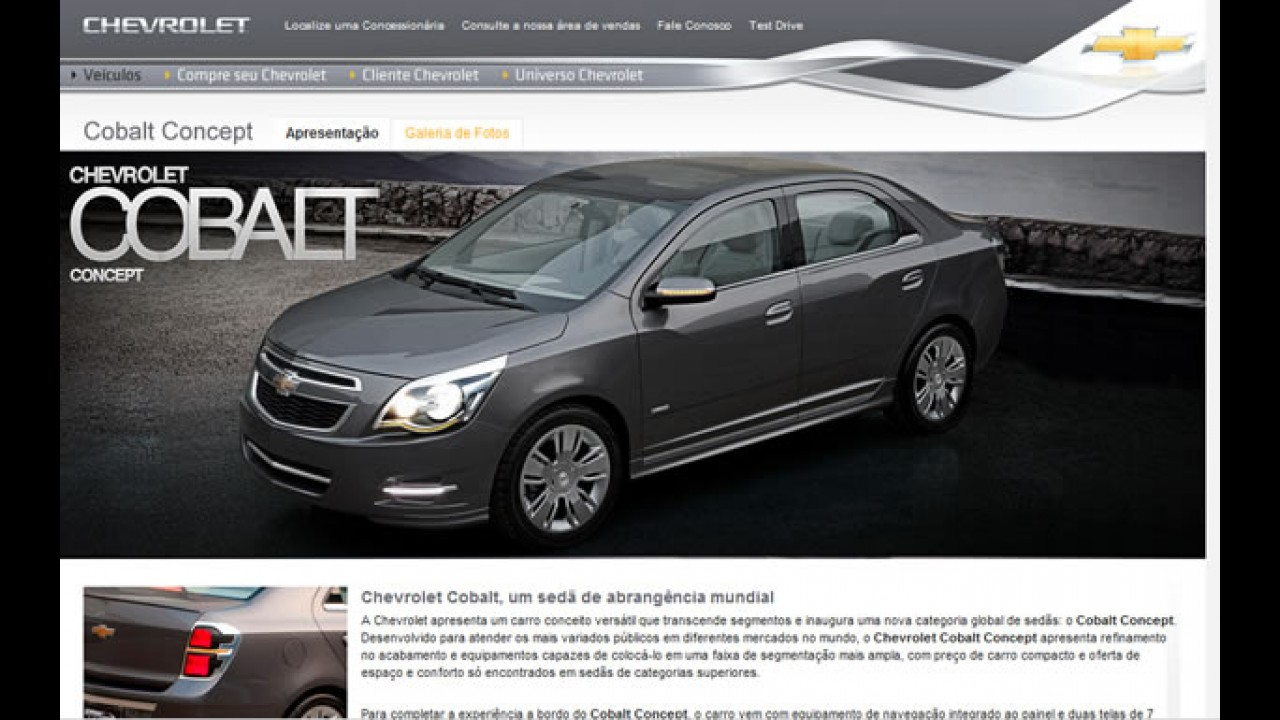 Novo Chevrolet Cobalt LS é flagrado em SP - Modelo já aparece no site da marca