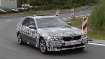 2017 BMW 5 Series Touring poses for the camera
