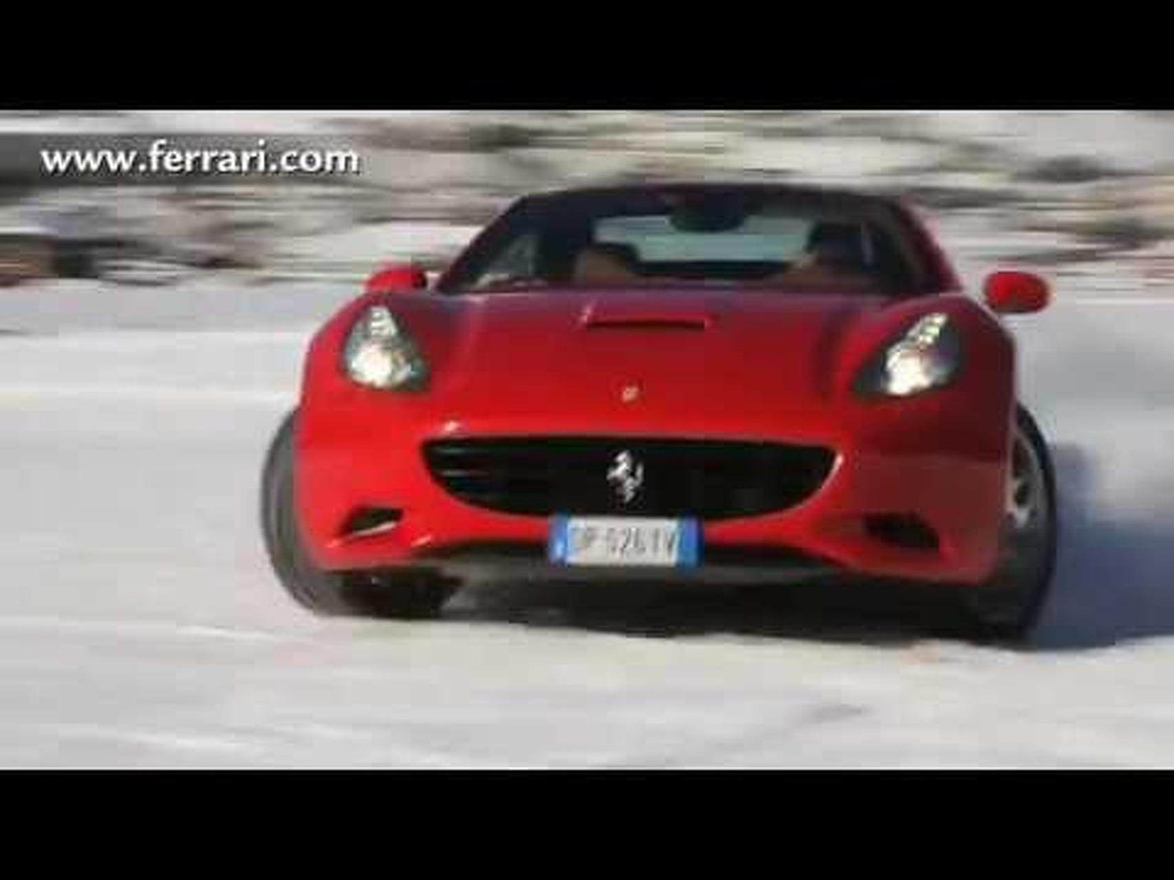 Ferrari California Plays on Snow