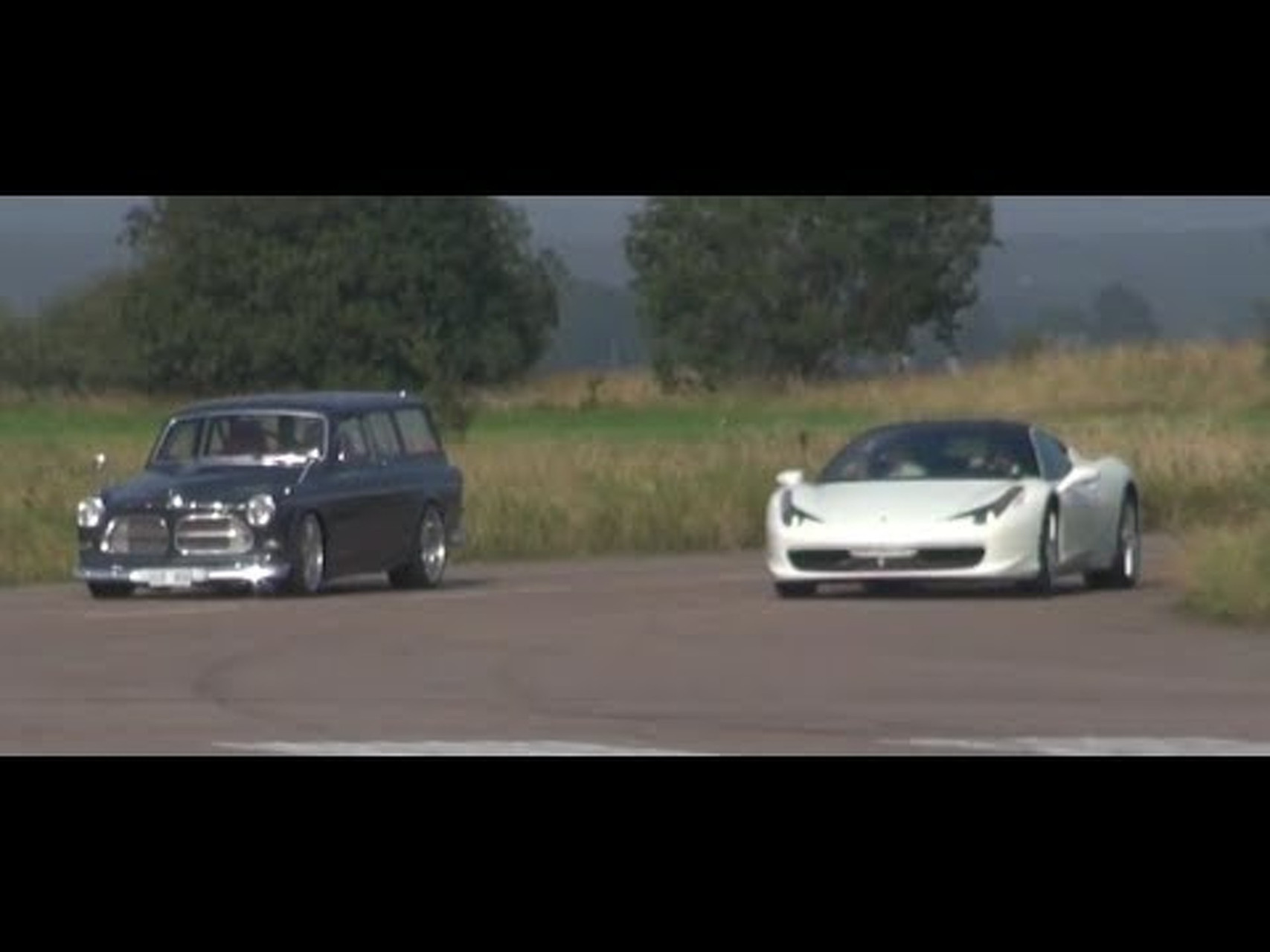 Ferrari 458 vs Volvo Amazon '67