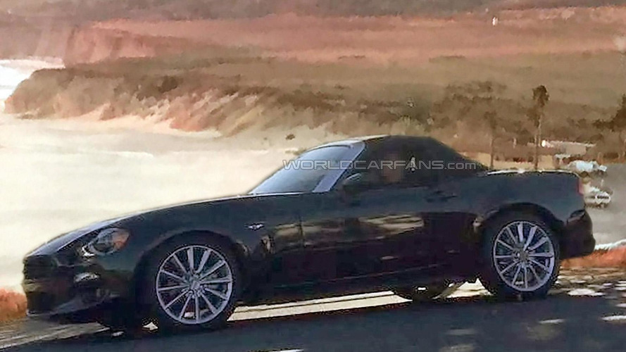 2017 Fiat 124 Spider spied undisguised during photo shoot