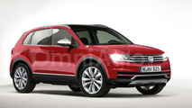 2016 Volkswagen Tiguan rendered ahead of upcoming official reveal