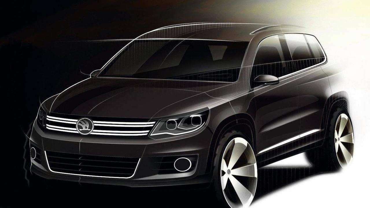 2011 Volkswagen Tiguan design sketch with modified Skoda emblem 31.10.2011