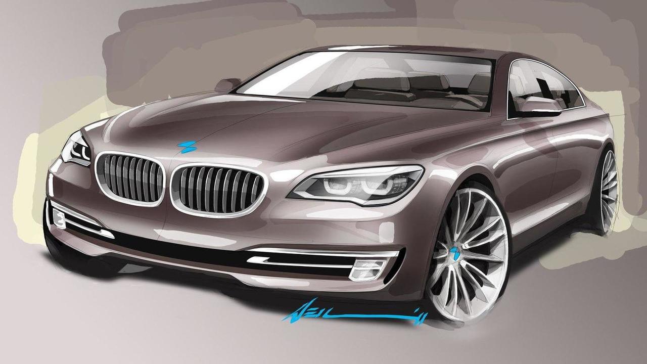 2013 BMW 7-Series facelift design sketch 25.04.2012