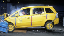 Opel Zafira Euro NCAP crash test