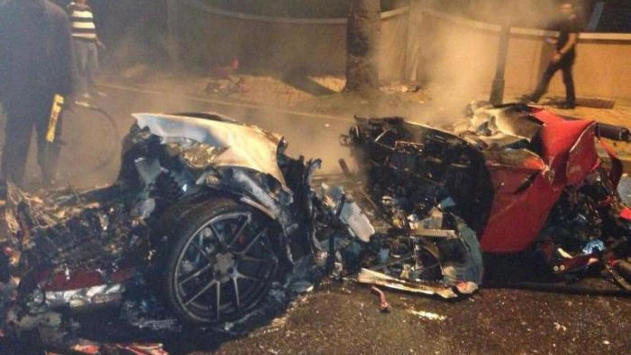 Ferrari 599 GTO crash in the Dominican Republic 08.07.2013