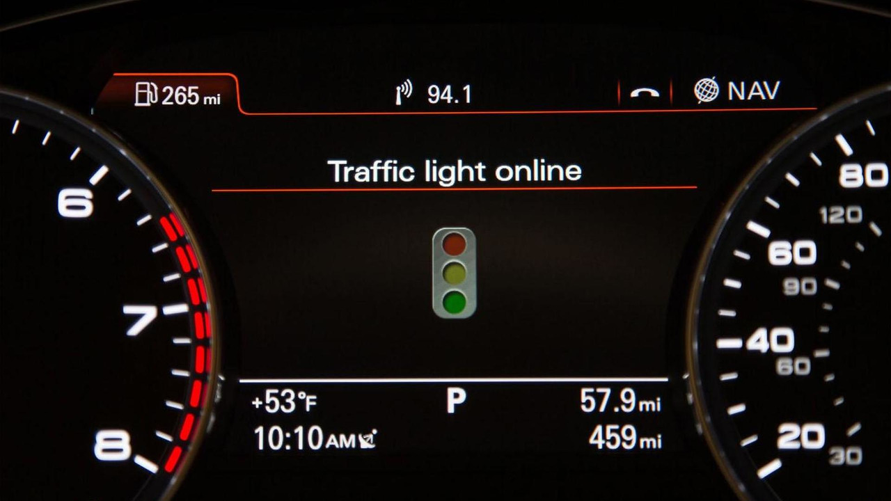 Audi Online traffic light information