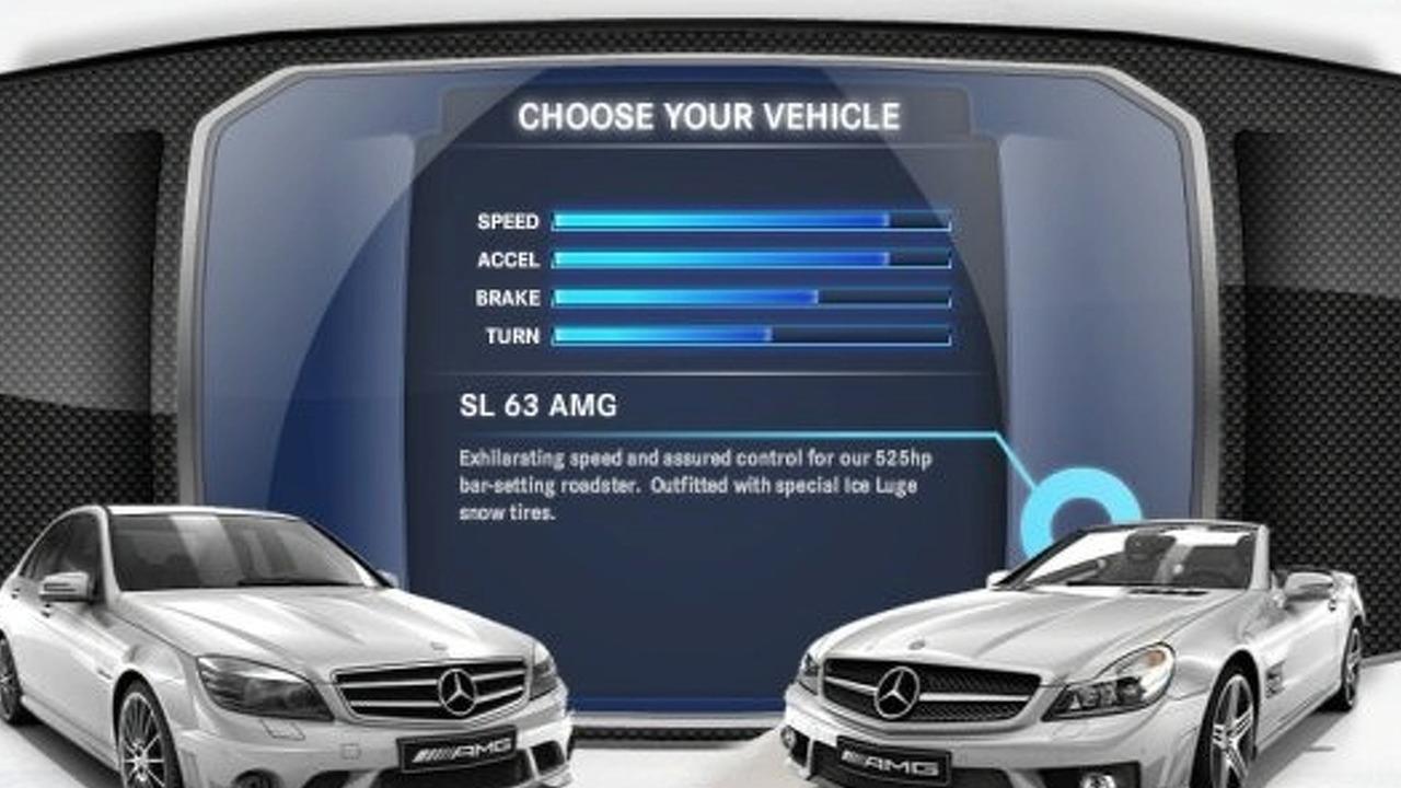 Mercedes AMG Ice Luge game screenshot